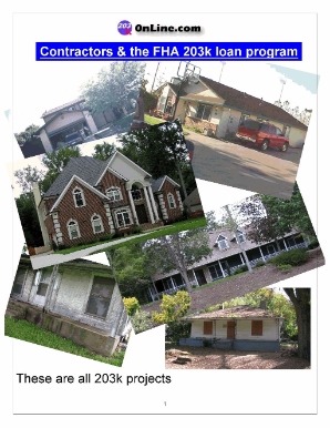 Contractors and the FHA 203k loan program - Order Here